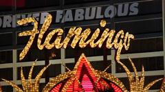 Flamingo Las Vegas Stock Footage