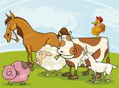 Stock Illustration of farm animals