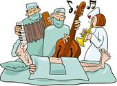 Stock Illustration of Crazy surgeons operation band