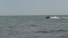Jetski at Beach Stock Footage