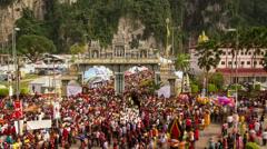 Thaipusam timelapse Stock Footage