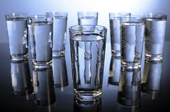 Eight glasses of water a day Stock Photos