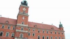 Warsaw, Poland. The Royal Palace in the Old Town. Stock Footage