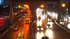 Traffic flow on main road 2 Stock Footage