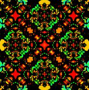 vibrant colors refined ornament - stock illustration