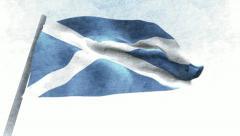 Scotland Flag Stock Footage