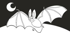 Stock Illustration of vampire bat for coloring book