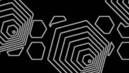 Stock Video Footage of Black and white hexagon  art background