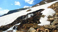 Melting Snow Montana Mountains - stock footage