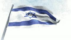 Israel Flag Stock Footage