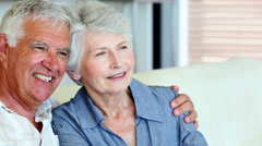 Senior couple smiling together Stock Footage