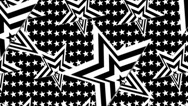 Stock Video Footage of Black and white star op art background