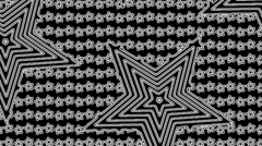 Black and white star op art background - stock footage