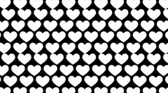 Black and white op art background Stock Footage