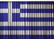 Stock Illustration of greece flag on curtain