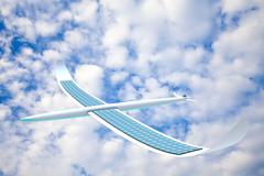 Solar energy airplane for adv or others purpose use - stock illustration