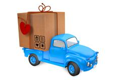 small lorry with parcel - stock illustration