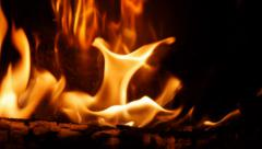 Burning fire flames, motion background. Stock Footage
