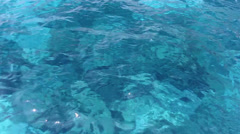 crystal clear water andaman sea - stock footage