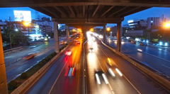 traffic flow on main road - stock footage