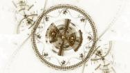 Stock Video Footage of Mechanism, Ancient Metallic Cogwheel