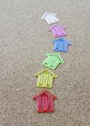 Colorful arrow clips Stock Photos