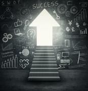 Staircase into bright future Stock Illustration