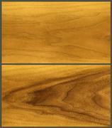 Wood: teak veneer Stock Photos