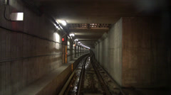Subway Train - 10 - Underground Tunnel Stock Footage