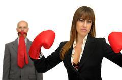 Agressive business - stock photo