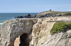 Arche on the coastline of Quiberon in France - stock photo