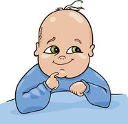 Cute baby Stock Illustration