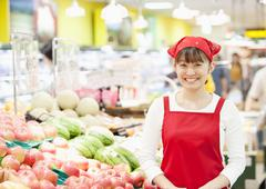 Grocery store staff - stock photo