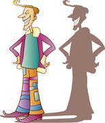 Stock Illustration of Eccentric guy