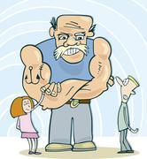 Meet my daddy - stock illustration