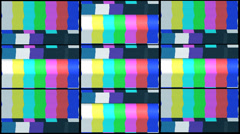 Tv color bars with snow and noise Stock Footage