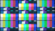 Stock Video Footage of Tv color bars with snow and noise