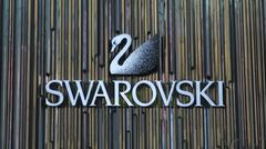 Editorial Photo Swarovski Signage Stock Photos