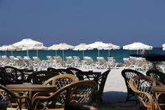 Stock Photo of mastichari beach on kos island.