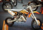 Bangkok - september 22: the ktm 50 sx on display at the promenade bigbike sho Stock Photos