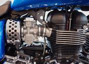 Bangkok - september 22: triumph america engine on display at the promenade bi Stock Photos