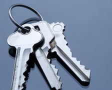 key ring and keys - stock photo