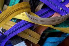 A collection of colored zips - stock photo