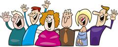 Stock Illustration of Group of happy people