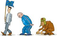 Stock Illustration of Eastern european evolution