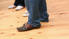Feet standing in a circle Stock Footage