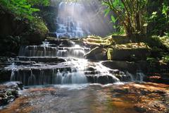 man dang waterfall - stock photo