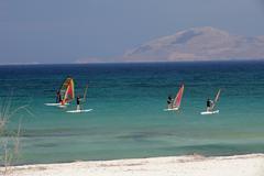 Mastichari beach on kos island. Stock Photos