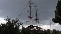 Pirate Ships, Boats, Sailboats, Watercraft Stock Footage