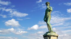 Timelapse of the famous statue of David in Florence, Italy Stock Footage